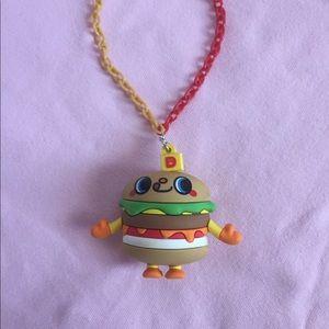 Doki doki yummychums cheeseburger chain necklace